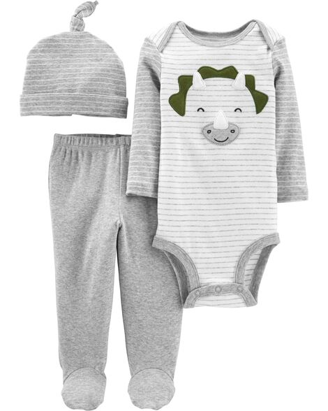 3-Piece Dinosaur Take-Me-Home Set