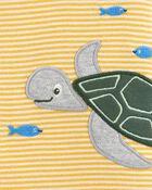Turtle Snap-Up Romper, , hi-res