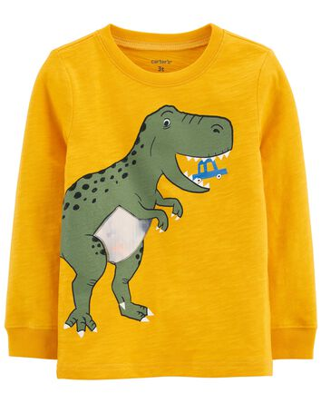 Dinosaur Action Graphic Slub Jersey...