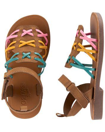 Sandales à brides arc-en-ciel
