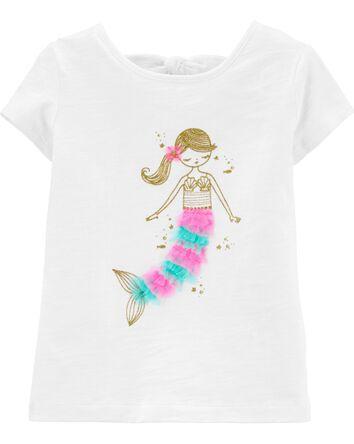 T-shirt avec nœud au dos et sirène...