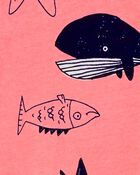 Pyjama 1 pièce sans pieds en coton ajusté à baleine, , hi-res