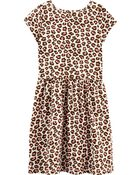 Robe en jersey léopard, , hi-res
