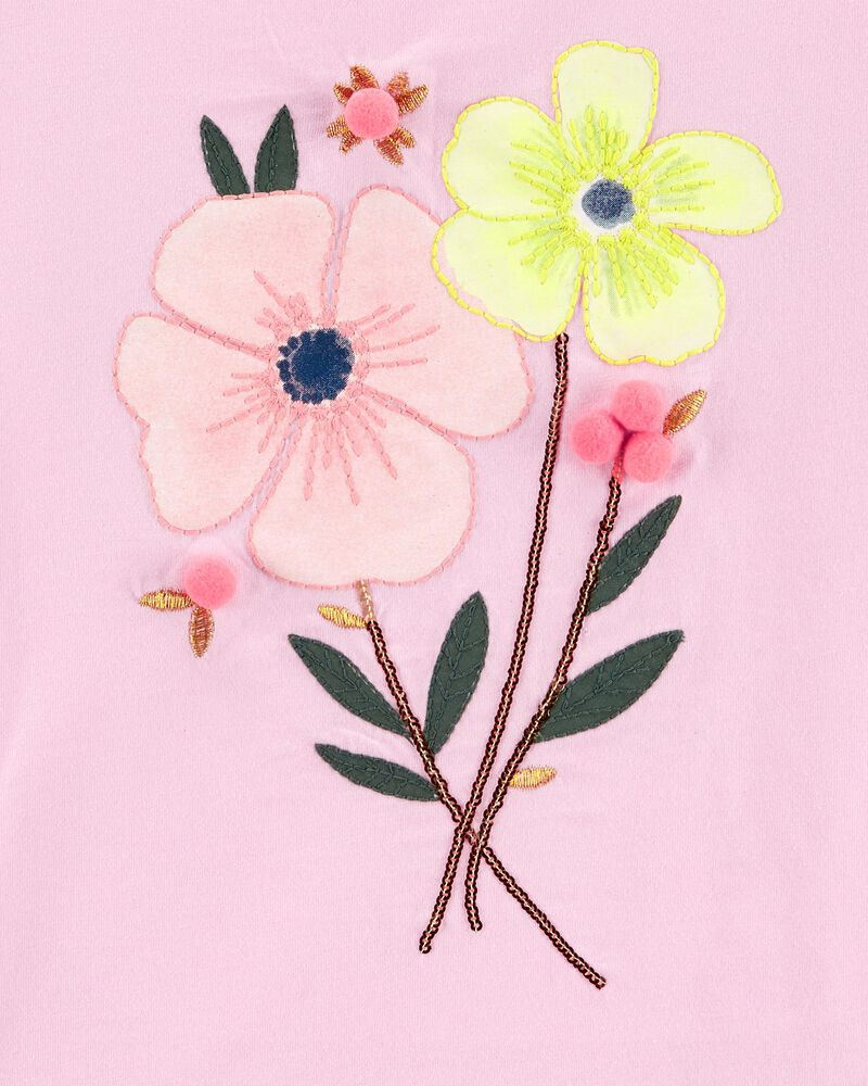 Floral Jersey Tee, , hi-res