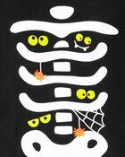 Pyjama 2 pièces à squelette d'Halloween qui brille dans le noir en coton ajusté, , hi-res
