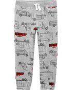 Car Pull-On Fleece Pants, , hi-res