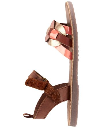 Rose Gold Chain Strap Sandals
