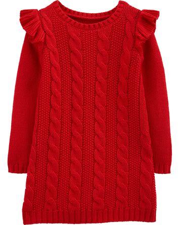 Robe en tricot câblé