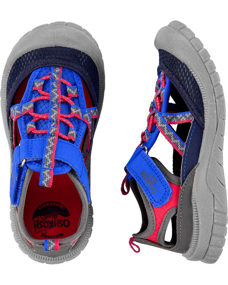 OshKosh Grey Bump Toe Sandals, , hi-res