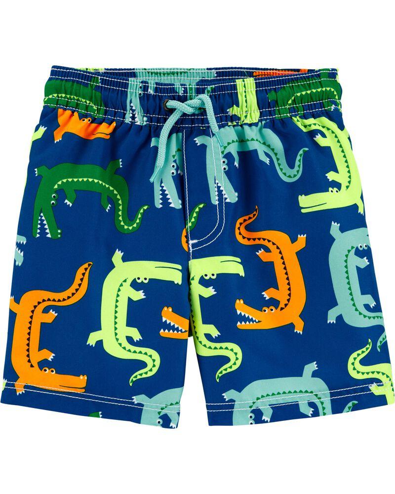 Maillot de bain à imprimé alligator, , hi-res