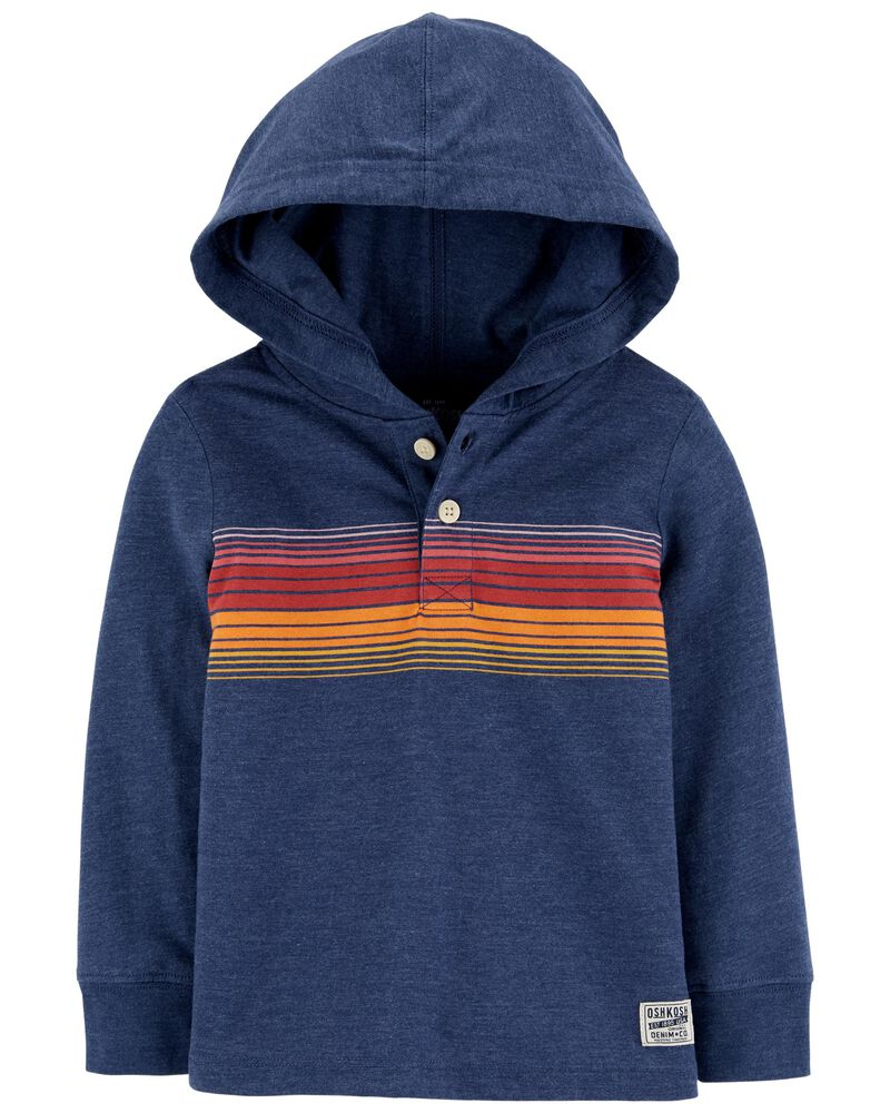 Hooded Rugby Pullover, , hi-res
