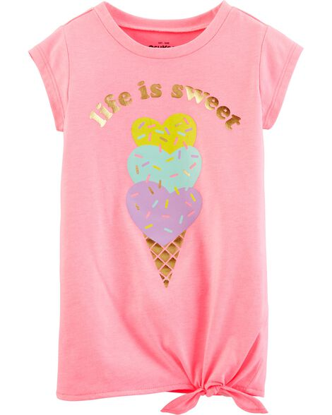 Side-Tie Ice Cream Tee