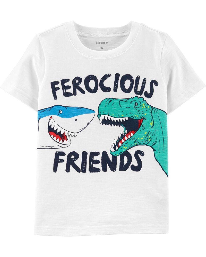 T-shirt en jersey Ferocious Friends Dinosaur , , hi-res