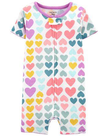1-Piece Hearts 100% Snug Fit Cotton...