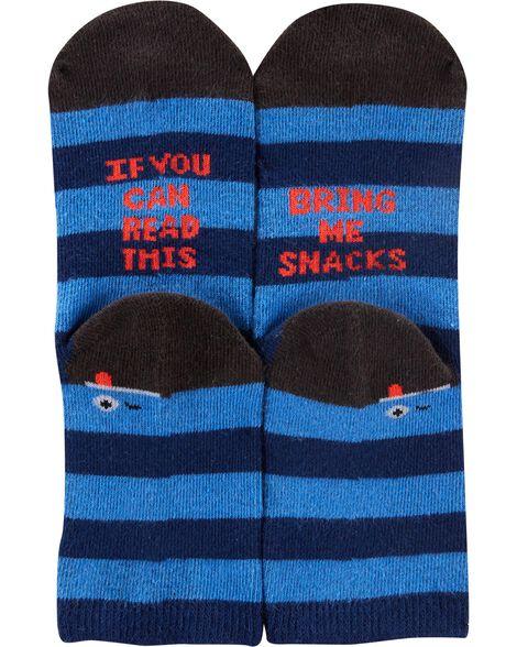 3 paires de chaussettes à motif sport qui brille dans le noir