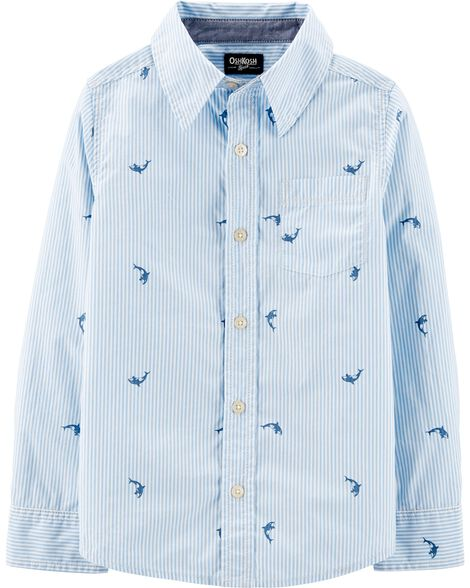 Whale Button-Front Shirt