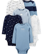 6-Pack Long-Sleeve Original Bodysuits, , hi-res