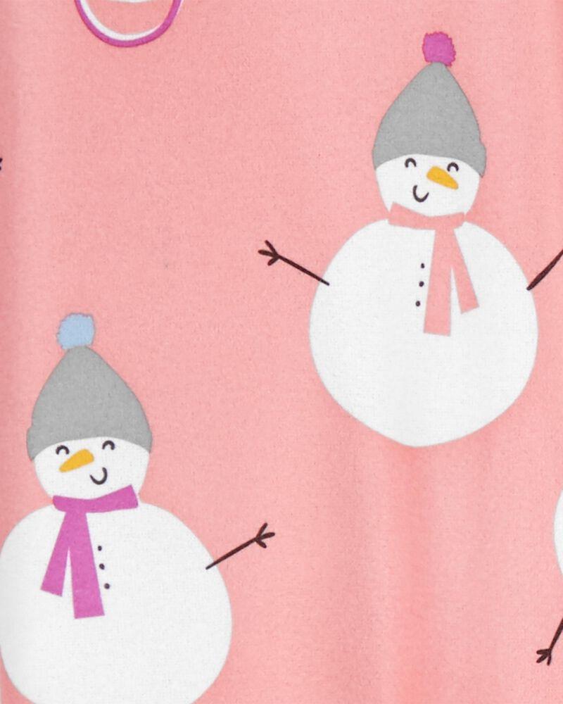 2-Piece Snowman Coat-Style PJs, , hi-res