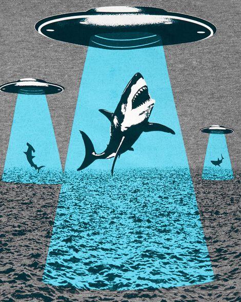 Débardeur à requin et OVNI