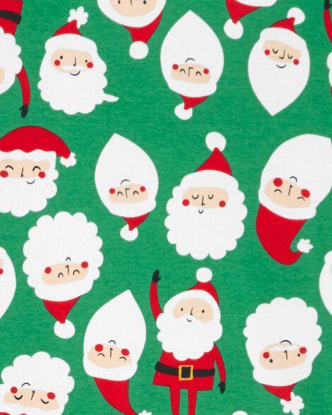 2-Piece Santa Snug Fit Cotton PJs For Adults