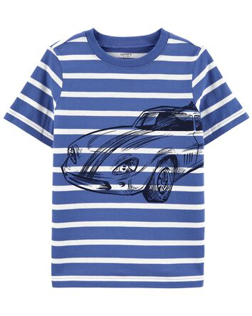 Striped Car Jersey Tee