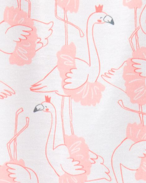 1-Piece Flamingo Poly Footie PJs