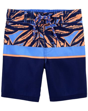 Tropical Palms Swim Trunks