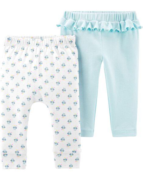 Emballage de 2 pantalons en coton
