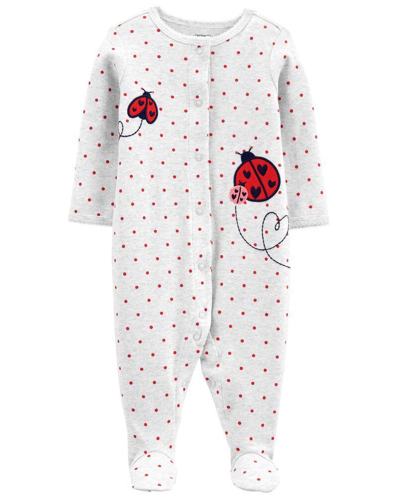 Ladybug Snap-Up Cotton Sleep & Play, , hi-res