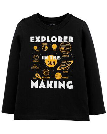 T-shirt en jersey à motif de l'espa...