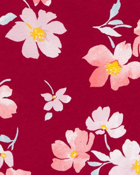 Robe en jersey fleurie