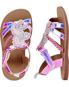 Sandales licorne scintillante, , hi-res
