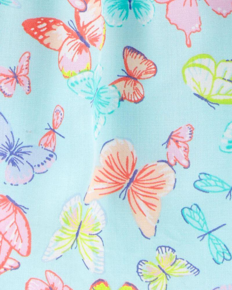Butterfly Crocheted Poplin Dress, , hi-res