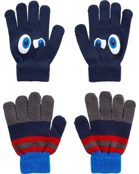 2 paires de gants Grands yeux à paume agrippante Kombi