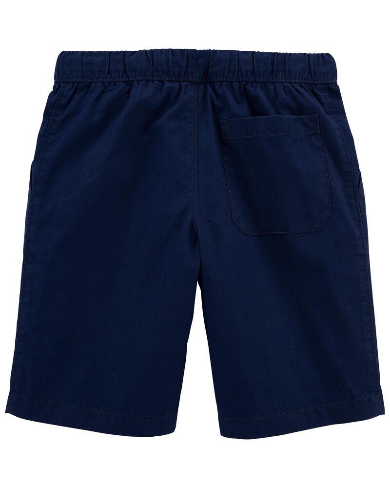 Easy Pull-On Poplin Shorts, , hi-res