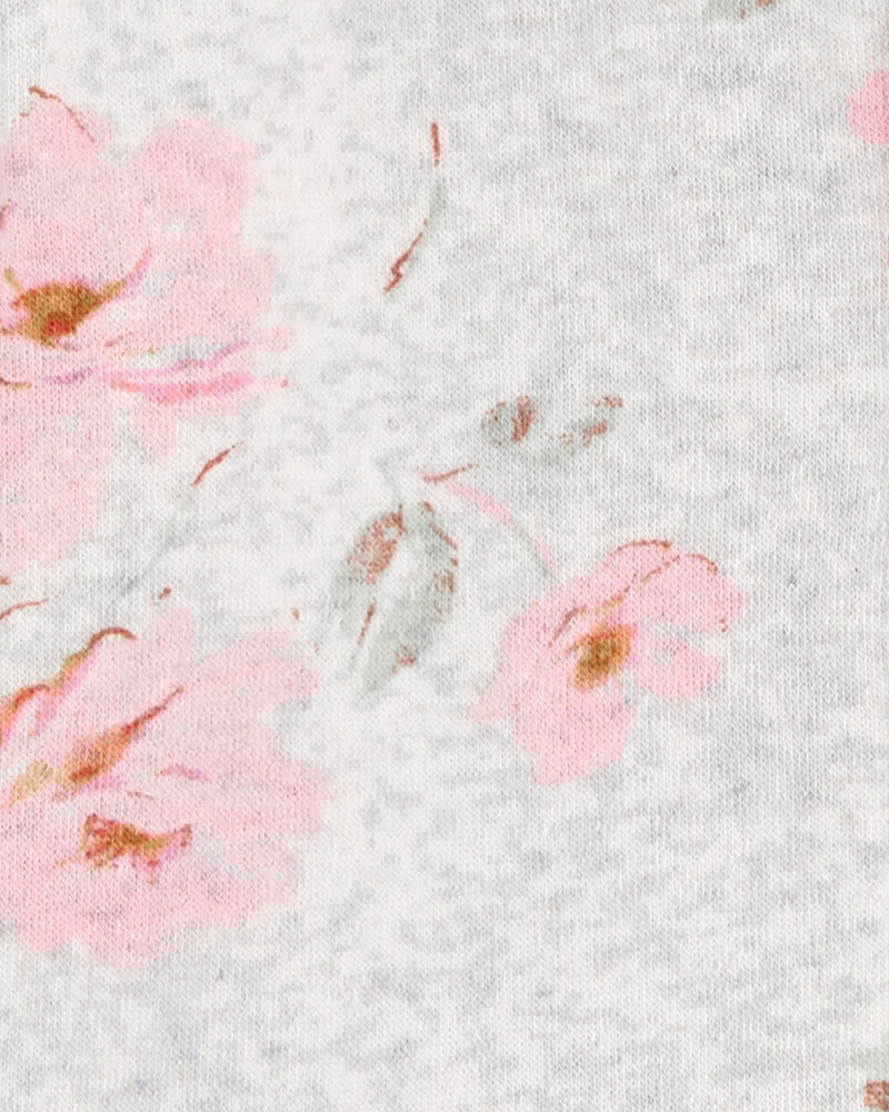 Kangourou en molleton fleuri à basque, , hi-res