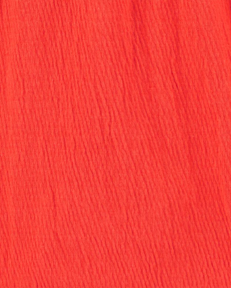 Lace Trim Ruffle Top, , hi-res