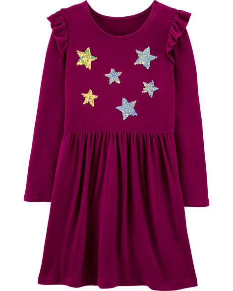 Robe en jersey à étoiles en paillettes