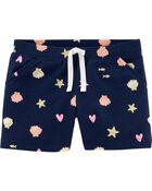 Seashell Pull-On French Terry Shorts, , hi-res