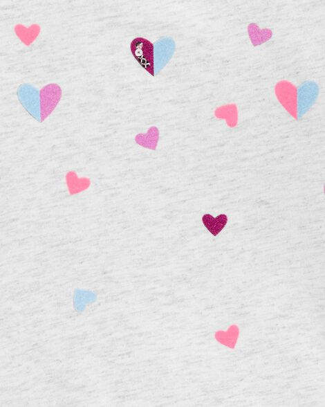 Heart Peplum Hem Top