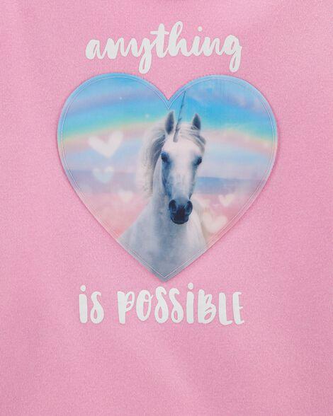 Unicorn Dreamy Motion Graphic Pullover
