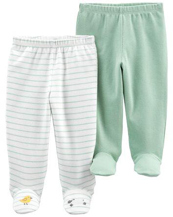 Emballage de 2 pantalons en coton à...