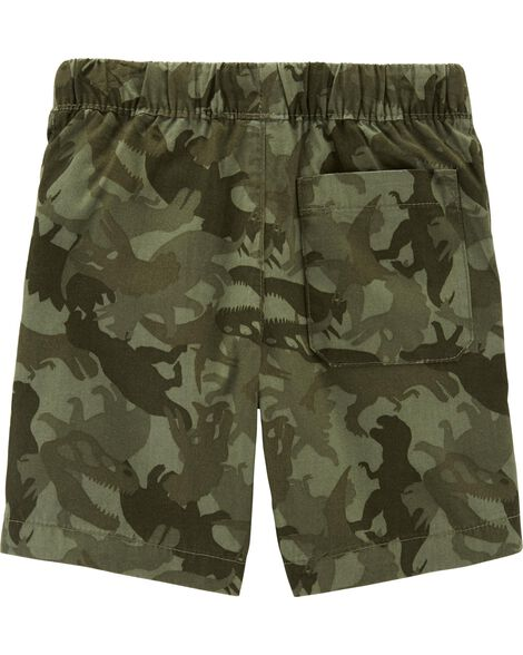 Camo Pull-On Poplin Shorts