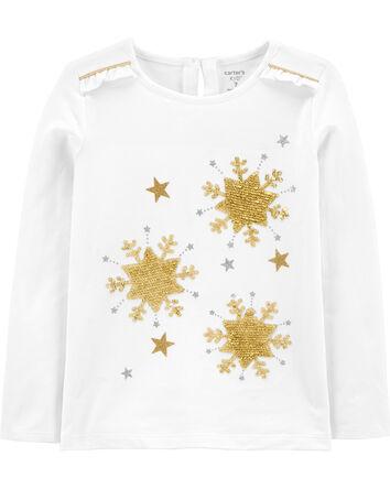 T-shirt en jersey à étoile pailleté...
