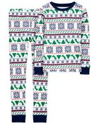 2-Piece Fair Isle 100% Snug Fit Cotton PJs, , hi-res
