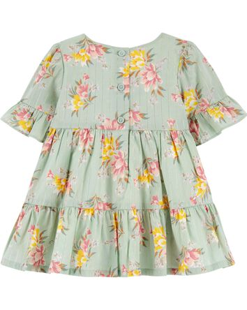 Tiered Floral Dress