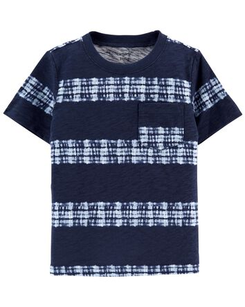 T-shirt à poche teint sur nœud