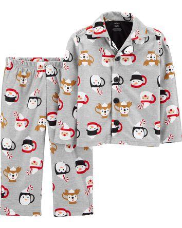 Pyjama des Fêtes 2 pièces en mollet...