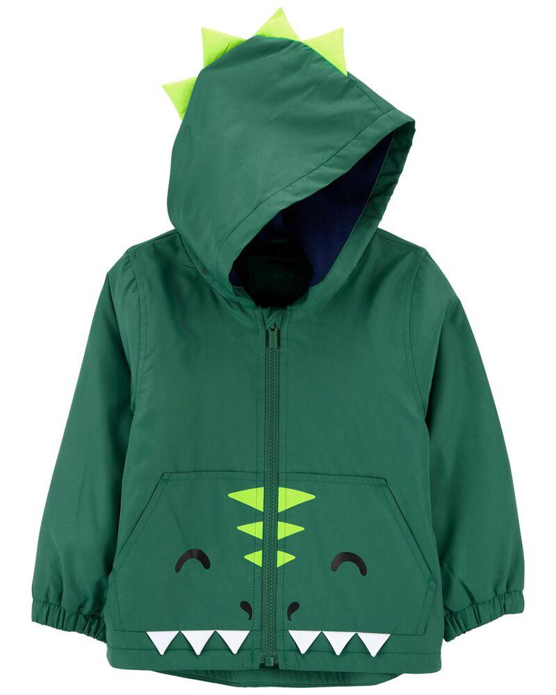 Dinosaur Fleece-Lined Midweight Jacket, , hi-res