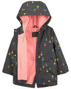 Heart Flowers Fleece-Lined Anorak Jacket, , hi-res